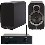 Tangent Ampster BT + Q Acoustics 3020i Noir