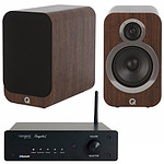 Tangent Ampster BT + Q Acoustics 3020i Noyer