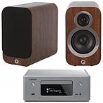 Denon CEOL N10 Gris - Sans HP + Q Acoustics 3010i Noyer
