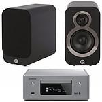 Denon CEOL N10 Gris - Sans HP + Q Acoustics 3010i Noir