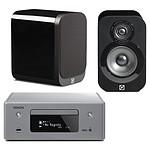 Denon CEOL N10 Gris - Sans HP + Q Acoustics 3010 Noir laqué