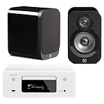 Denon CEOL N10 Blanc - Sans HP + Q Acoustics 3010 Noir laqué