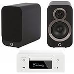 Denon CEOL N10 Blanc - Sans HP + Q Acoustics 3010i Noir