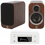 Denon CEOL N10 Blanc - Sans HP + Q Acoustics 3010i Noyer