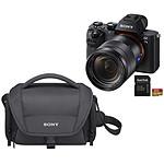 Sony Alpha 7 II + Objectif Vario-Tessar 24 - 70 mm + LCS-U21 Noir + SanDisk Extreme microSDHC UHS-I U3 V30 32 Go + Adaptateur SD