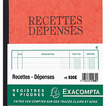 Exacompta Piqûre Recettes-Dépenses 21 x 19 cm