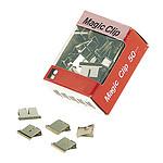 JPC Recharges de 50 Clips Chromés 4 mm