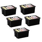 CEP Strata Lot de 5 Maxi Box 32 litres Noir