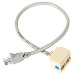 StarTech.com Câble répartiteur / adaptateur Ethernet 1x RJ45 (mâle) 2x RJ45 (femelle)