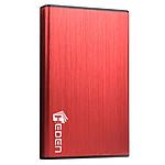 Heden boitier externe USB 3.0 en aluminium brossé pour disque dur 2.5'' SATA III (coloris rouge)