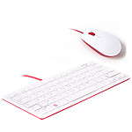 Raspberry Pi Keyboard + Mouse (Blanc)