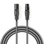 Nedis Câble XLR Symétrique M/F (1m)