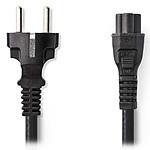 Nedis Câble d'alimentation tripolaire noir - 2 mètres