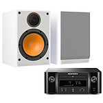 Marantz Melody X M-CR612 Noir + Monitor Audio Monitor 100 Blanc