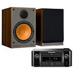 Marantz Melody X M-CR612 Noir + Monitor Audio Monitor 100 Noyer
