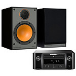 Marantz Melody X M-CR612 Noir + Monitor Audio Monitor 100 Noir