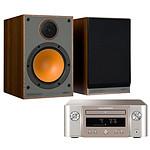 Marantz Melody X M-CR612 Argent/Or + Monitor Audio Monitor 100 Noyer