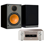 Marantz Melody X M-CR612 Argent/Or + Monitor Audio Monitor 100 Noir