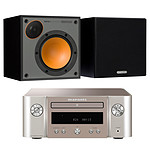 Marantz Melody M-CR412 Argent/Or + Monitor Audio Monitor 50 Noir