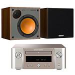 Marantz Melody M-CR412 Argent/Or + Monitor Audio Monitor 50 Noyer