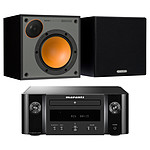 Marantz Melody M-CR412 Noir + Monitor Audio Monitor 50 Noir