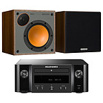 Marantz Melody M-CR412 Noir + Monitor Audio Monitor 50 Noyer