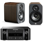Marantz Melody M-CR412 Noir + Q Acoustics 3010 Noyer