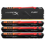 HyperX Fury RGB 64 Go (4x 16 Go) DDR4 2400 MHz CL15