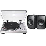 Audio-Technica AT-LP120XUSB Argent + KEF LSX Wireless Noir