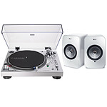 Audio-Technica AT-LP120XUSB Argent + KEF LSX Wireless Blanc