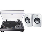 Audio-Technica AT-LP120XUSB Noir + KEF LSX Wireless Blanc