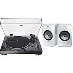 Audio-Technica AT-LP120XUSB Noir + KEF LSX Wireless Blanc