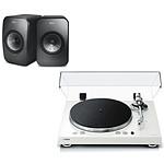 Yamaha MusicCast VINYL 500 Blanc + KEF LSX Wireless Noir