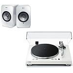 Yamaha MusicCast VINYL 500 Blanc + KEF LSX Wireless Blanc