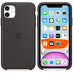 Apple Coque en silicone Noir Apple iPhone 11