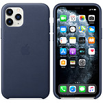 Apple Coque en cuir Bleu Nuit Apple iPhone 11 Pro