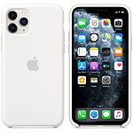 Apple Coque en silicone Blanc Apple iPhone 11 Pro