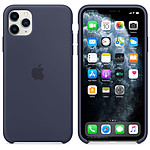 Apple Coque en silicone Bleu Nuit Apple iPhone 11 Pro Max