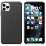 Apple Funda de piel negra Apple iPhone 11 Pro Max