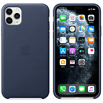 Apple Coque en cuir Bleu Nuit Apple iPhone 11 Pro Max