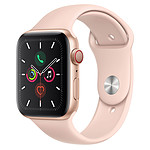 Apple Watch Series 5 GPS + Cellular Aluminium Or Bracelet Sport Rose des Sables 44 mm