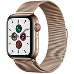 Apple Watch Series 5 GPS + Cellular Acero Oro Pulsera Milanesa ora 44 mm