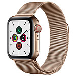 Apple Watch Series 5 GPS + Cellular Acero Oro Pulsera Milanesa Oro 40 mm