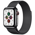 Apple Watch Series 5 GPS + Cellular Acero Negro Pulsera Milanesa Negra 40 mm