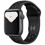 Apple Watch Series 5 Nike GPS Aluminium Gris Bracelet Sport Noir 40 mm