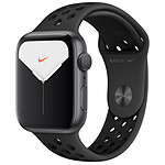 Apple Watch Series 5 Nike GPS Aluminio Gris Pulsera Deportiva Negro 44 mm