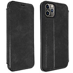 Akashi Funda Folio de cuero Italiana Negro iPhone 11 Pro
