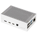 JOY iT Aluminium Case for Raspberry Pi 4B Silver