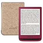 Vivlio Touch Lux 4 Rouge + Pack d'eBooks OFFERT + Housse Chinée Dorée