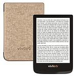 Vivlio Touch Lux 4 Noir + Pack d'eBooks OFFERT + Housse Chinée Dorée